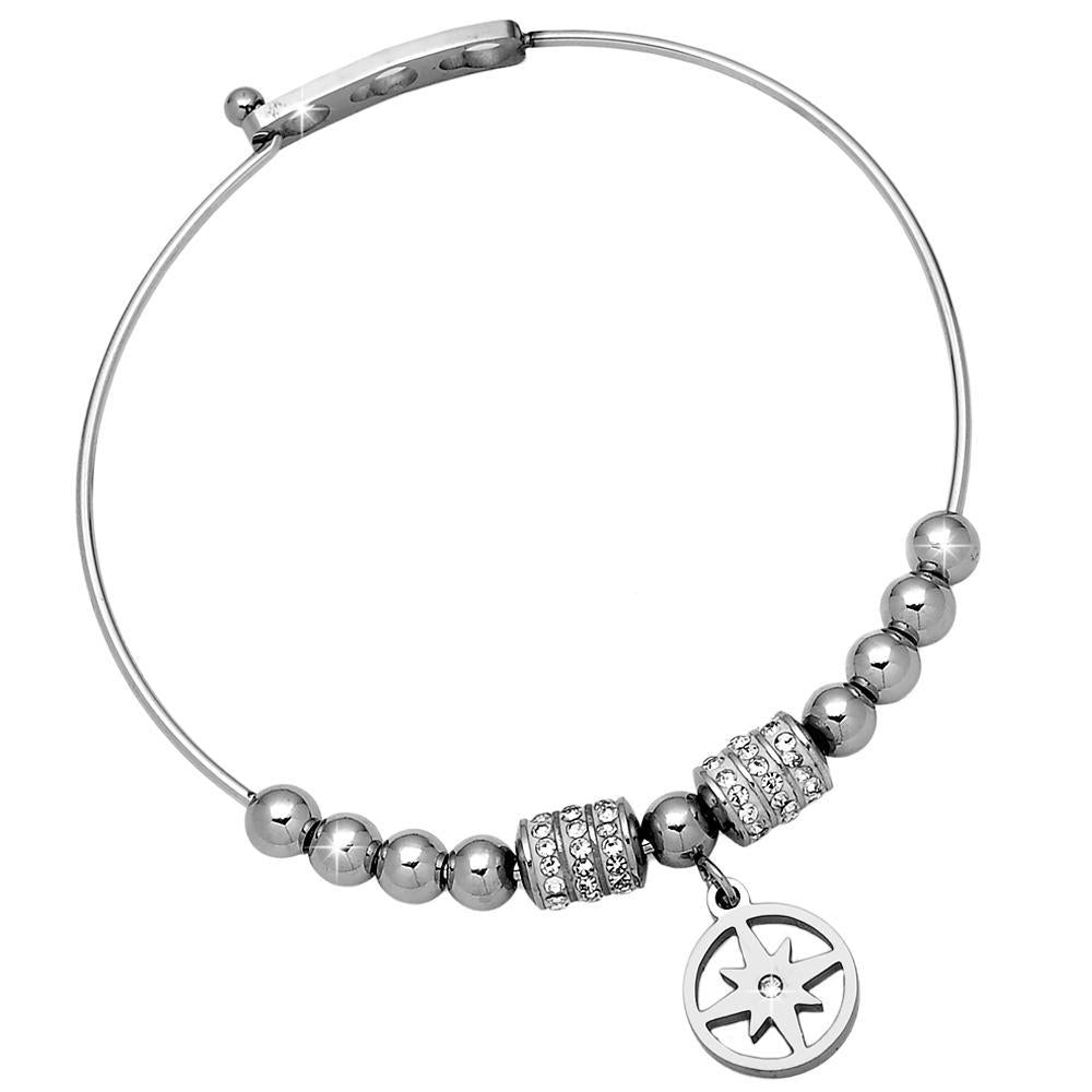Bracciale bangle rigido con charm - Stella Polare - Beloved Gioielli