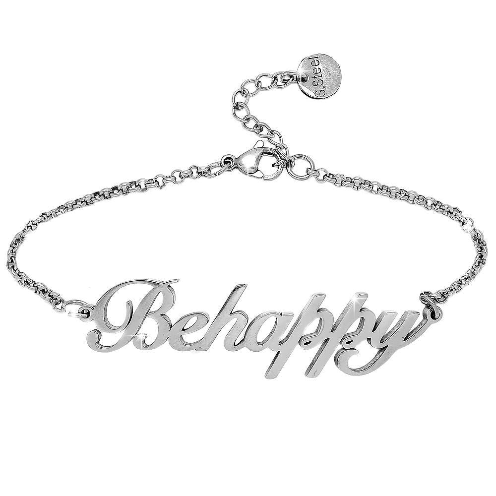 "Bracciale emozionale SENTENCE Silver - ""Be happy"" - Beloved Gioielli"