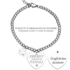 "Bracciale in acciaio inossidabile con incisione - ""Be the best version of yourself"" - Beloved Gioielli"