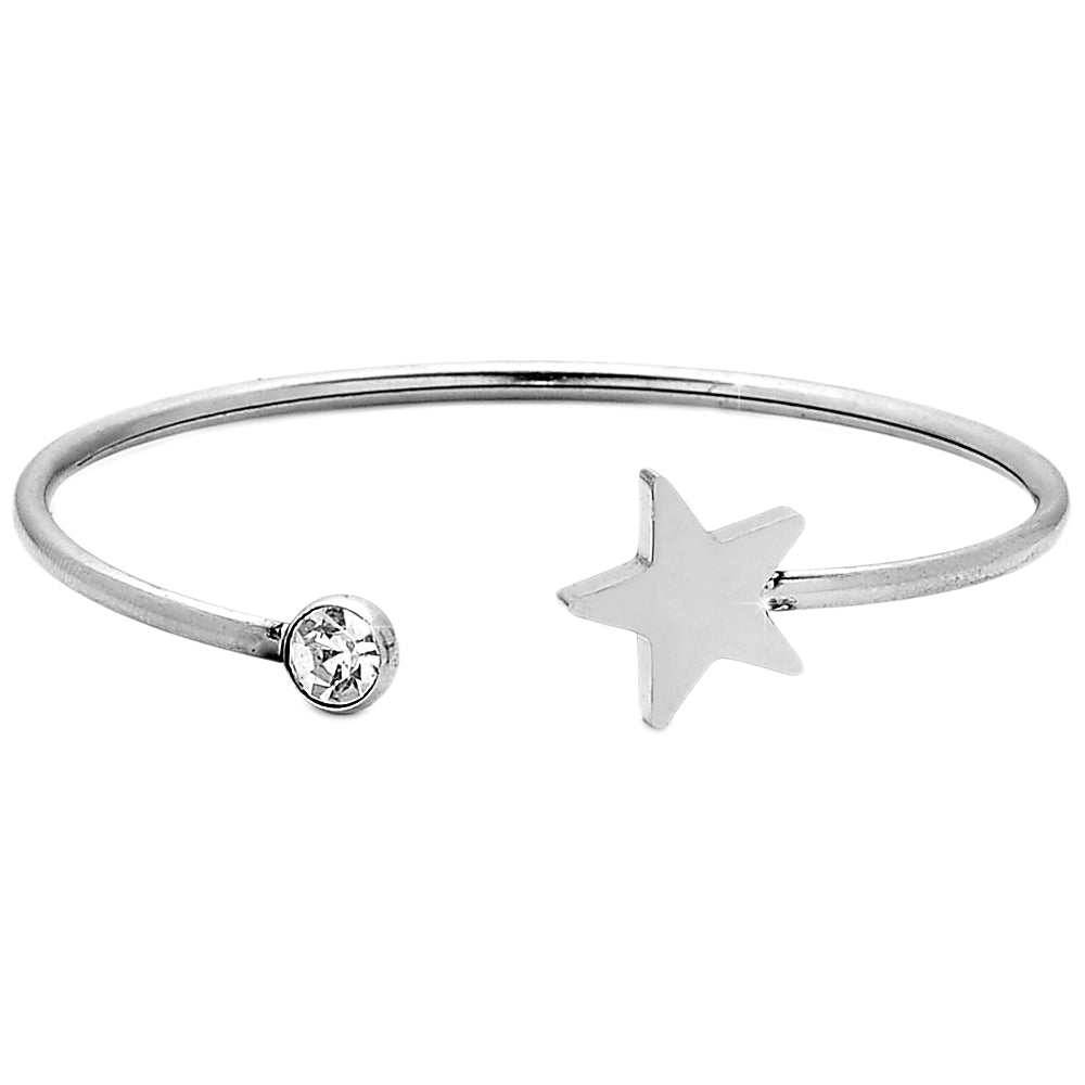 Bracciale Bangle Semirigido  - Stella e Punto Luce - Beloved Gioielli
