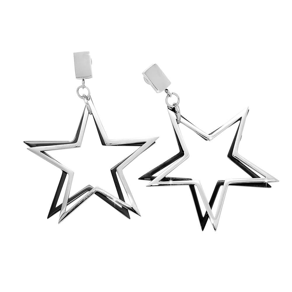 Orecchini Double Stars - Silver - Beloved Gioielli