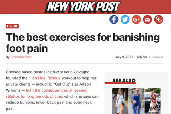 NY POST: THE BEST EXERCISES FOR BANISHING FOOT PAIN