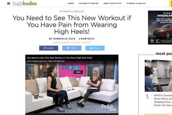 PEOPLE BODIES: YOU NEED TO SEE THIS NEW WORKOUT IF YOU HAVE PAIN FROM WEARING HIGH HEELS!