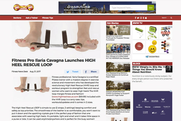 BROADWAY WORLD : FITNESS PRO ILARIA CAVAGNA LAUNCHES HIGH HEEL RESCUE LOOP