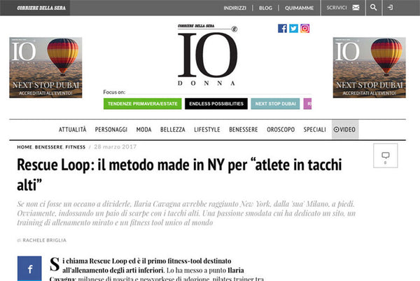 "IO DONNA: RESCUE LOOP: IL METODO MADE IN ITALY PER ""ATLETE IN TACCHI ALTI"""