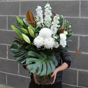 Blue Mountains Florist flower delivery white floral vase arrangement