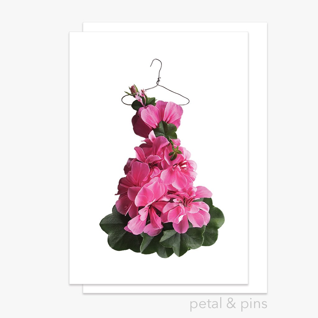 Petal and Pins Greeting Card