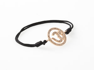 AUM by La Chance - Amulet w diamonds/gold