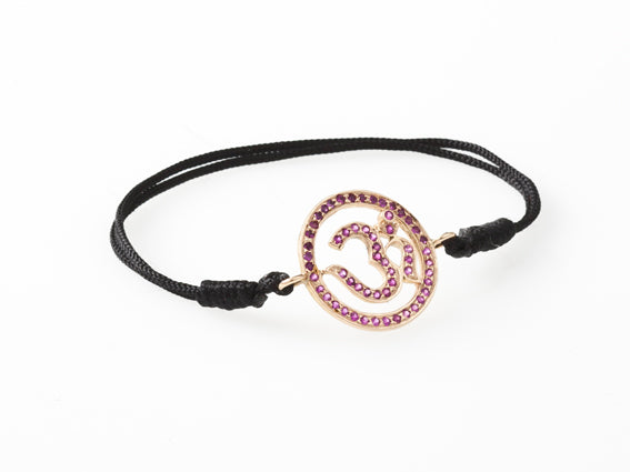 AUM by La Chance - Amulet w ruby/gold