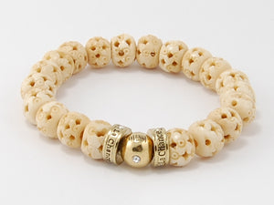 Bone Beads- Happy Bead