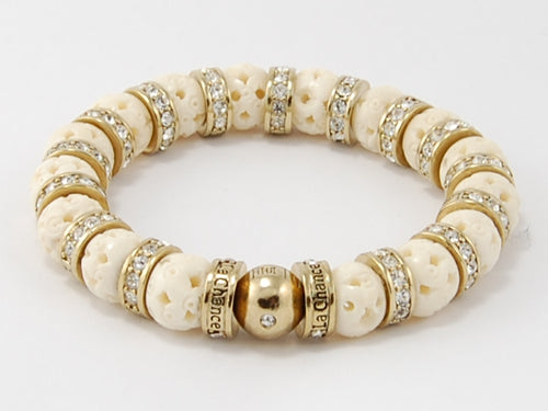 Bone Beads- Logowheel Bead