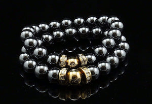 Christmas Special - Happy Bead Hematite (2 stk)