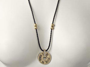 I Ching- Braided Large Coin Necklace