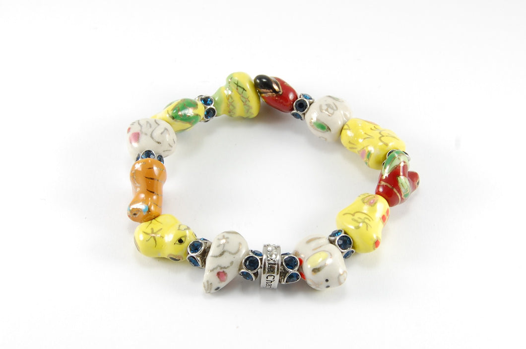 Original Lucky Bracelet - IP Crystal Coloured crystals/silver