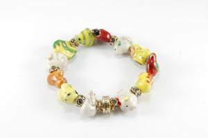 Original Lucky Bracelet - IP Crystal Coloured crystals/gold