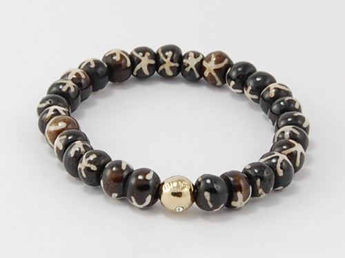 Bone Beads- Lucky Bead- Two tone
