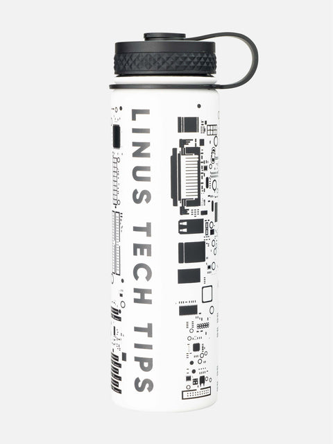 White & black LTT Insulated Water Bottle