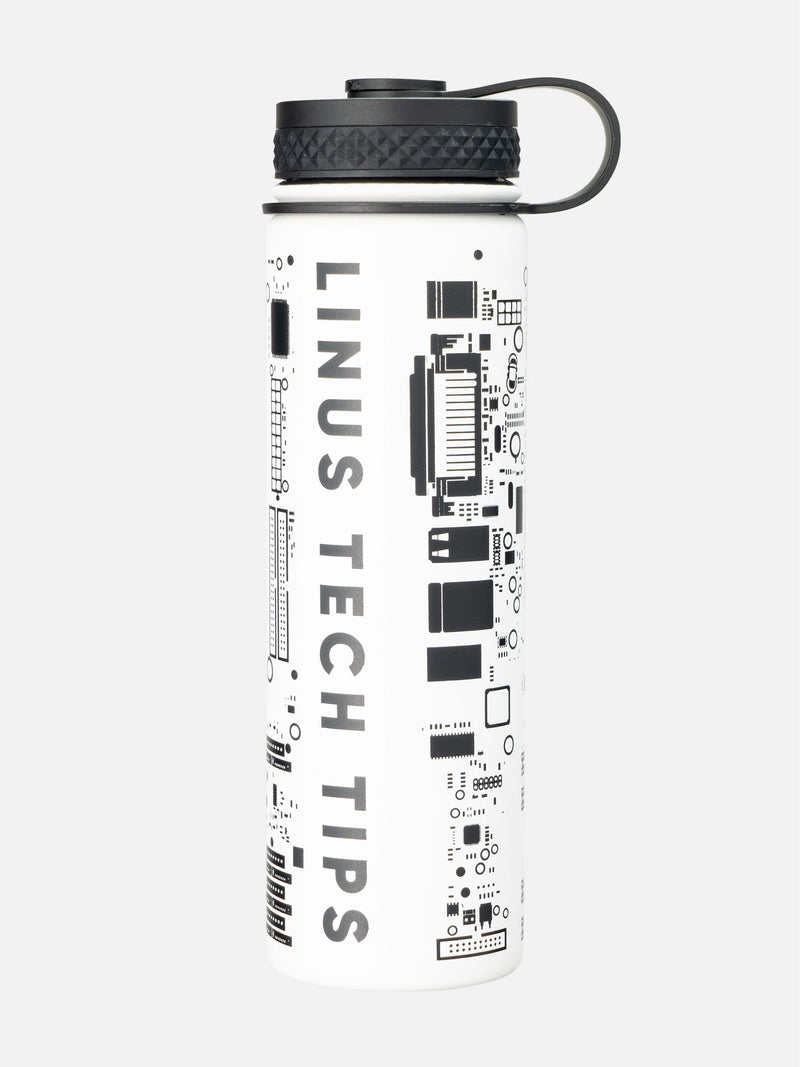 White & black LTT Insulated Water Bottle - 21oz (620ml)
