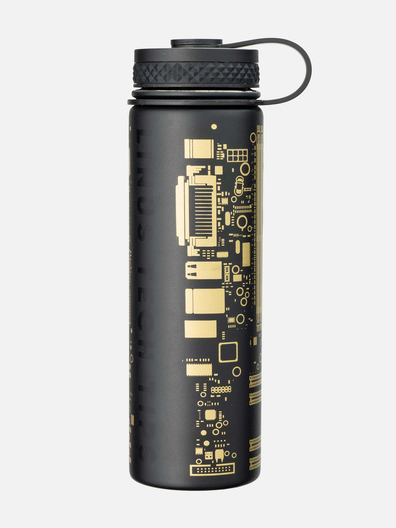 Black & Gold LTT Insulated Water Bottle - 21oz (620ml)