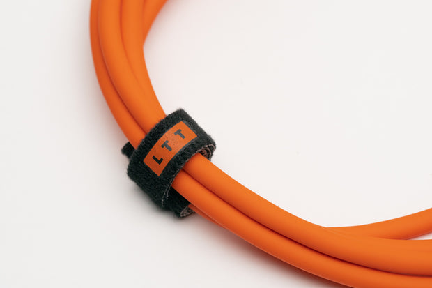 LTT Cable Ties 20-pack (Orange Printing, Black tie)