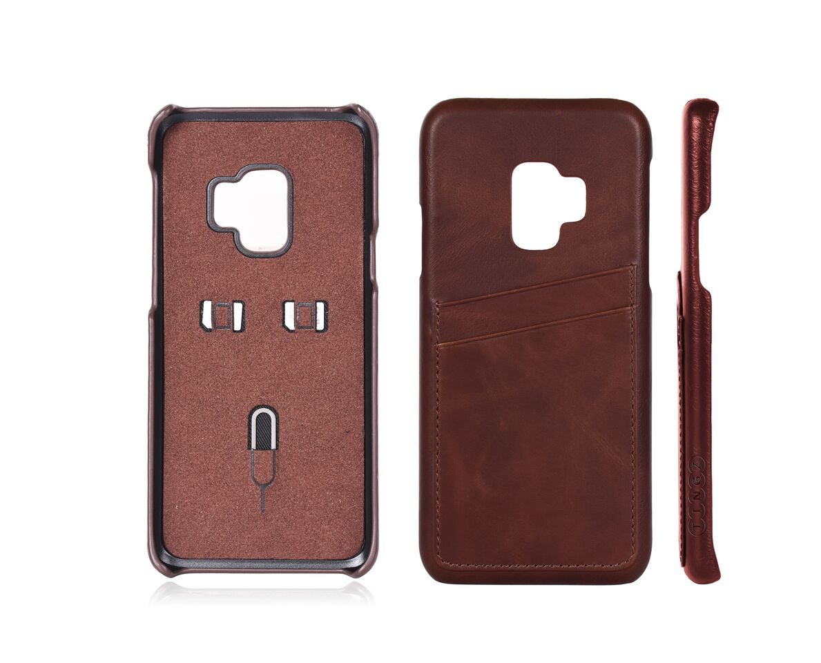 Samsung Galaxy S9 Leather Case + PU Cable Bundle