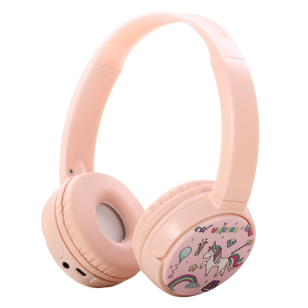 Bluetooth Kids Headphones with Microphone, Children's Wireless Headsets with 95dB Volume Limited Hearing Protection,Stereo Over-Ear Headphones for Boys and Girls (Pink+White), airfly adaptor included