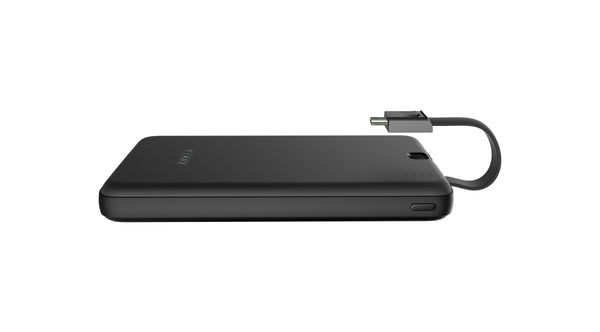 10000mAh Power Bank With Built-In Type C Cable