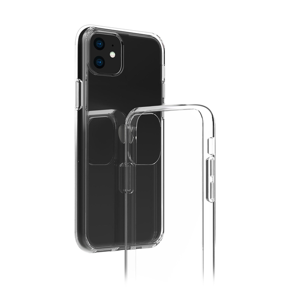 2-in-1 bundle (iPhone Case + cable), Thin Slim Fit Shockproof Hard PC Back & Soft TPU Phone Cover transparent iPhone case, with 1.5M MFi USB-C to C94 Lightning Charging Cable [Apple MFi Certified]