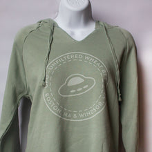 Load image into Gallery viewer, Mint Green V-Neck Hoodie
