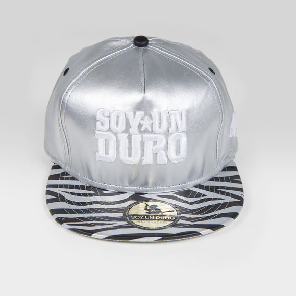 Silver Leather Soy Un Duro Snapback