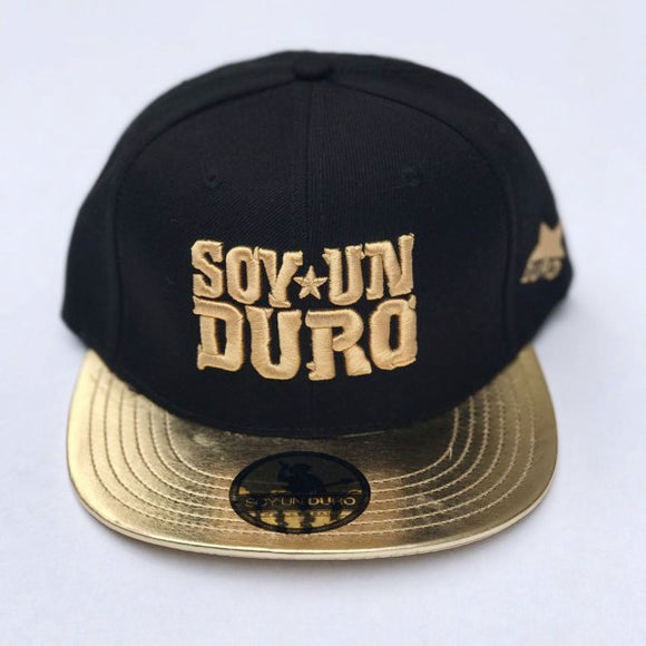 Black And Gold Leather Soy Un Duro Snapback