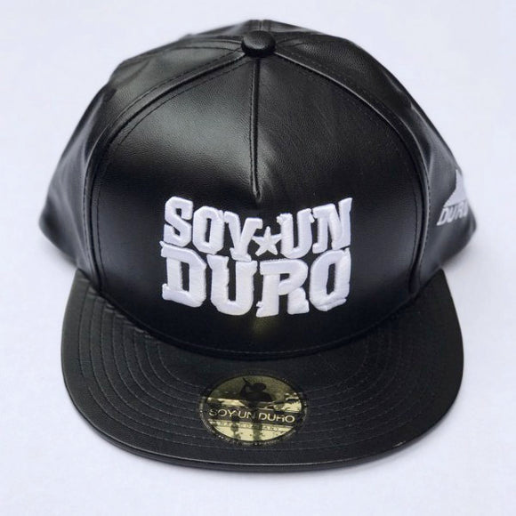 Black And White Leather Special Edition Snapback