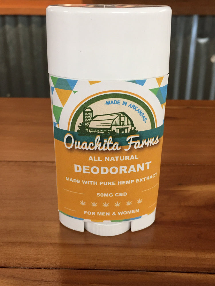 Full Spectrum Aluminum-Free Deodorant - 50mg CBD - Ouachita Farms