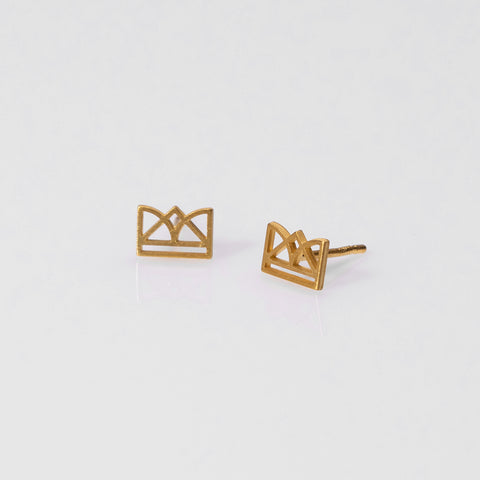 New Era earrings gold