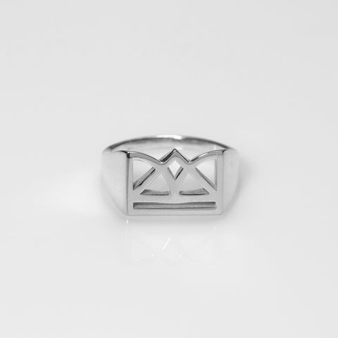 New Era polished ring silver