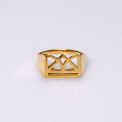 New Era polished ring gold