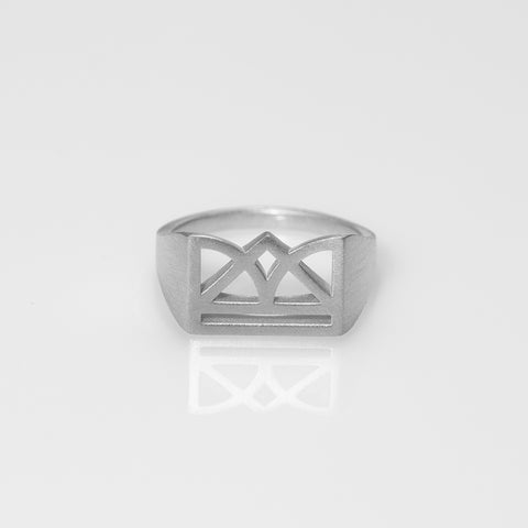 New Era matte ring silver