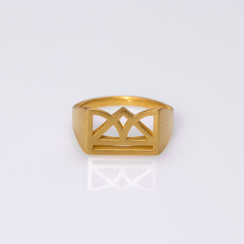 New Era matte ring gold