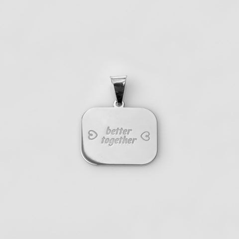 "Catchphrase ""better together"" pendant silver"