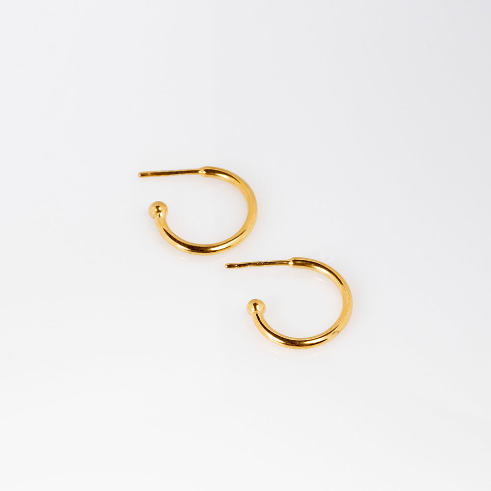 Charming Hoops S glossy earrings gold