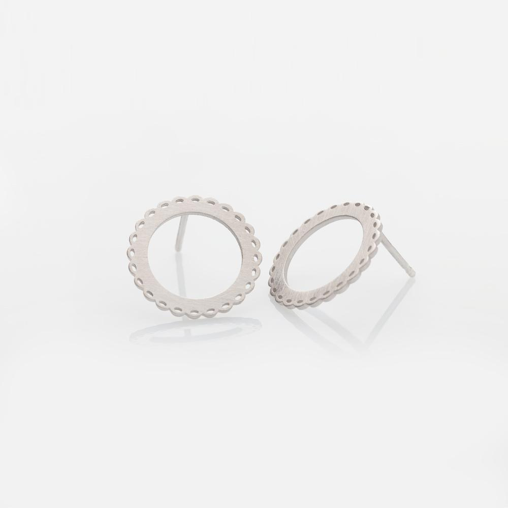 Mademoiselle earrings L silver