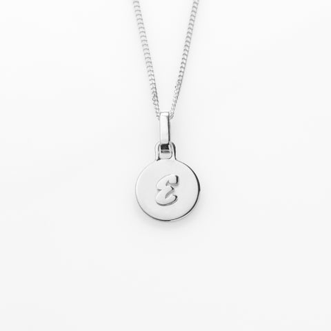 Alphabet  letter necklace silver