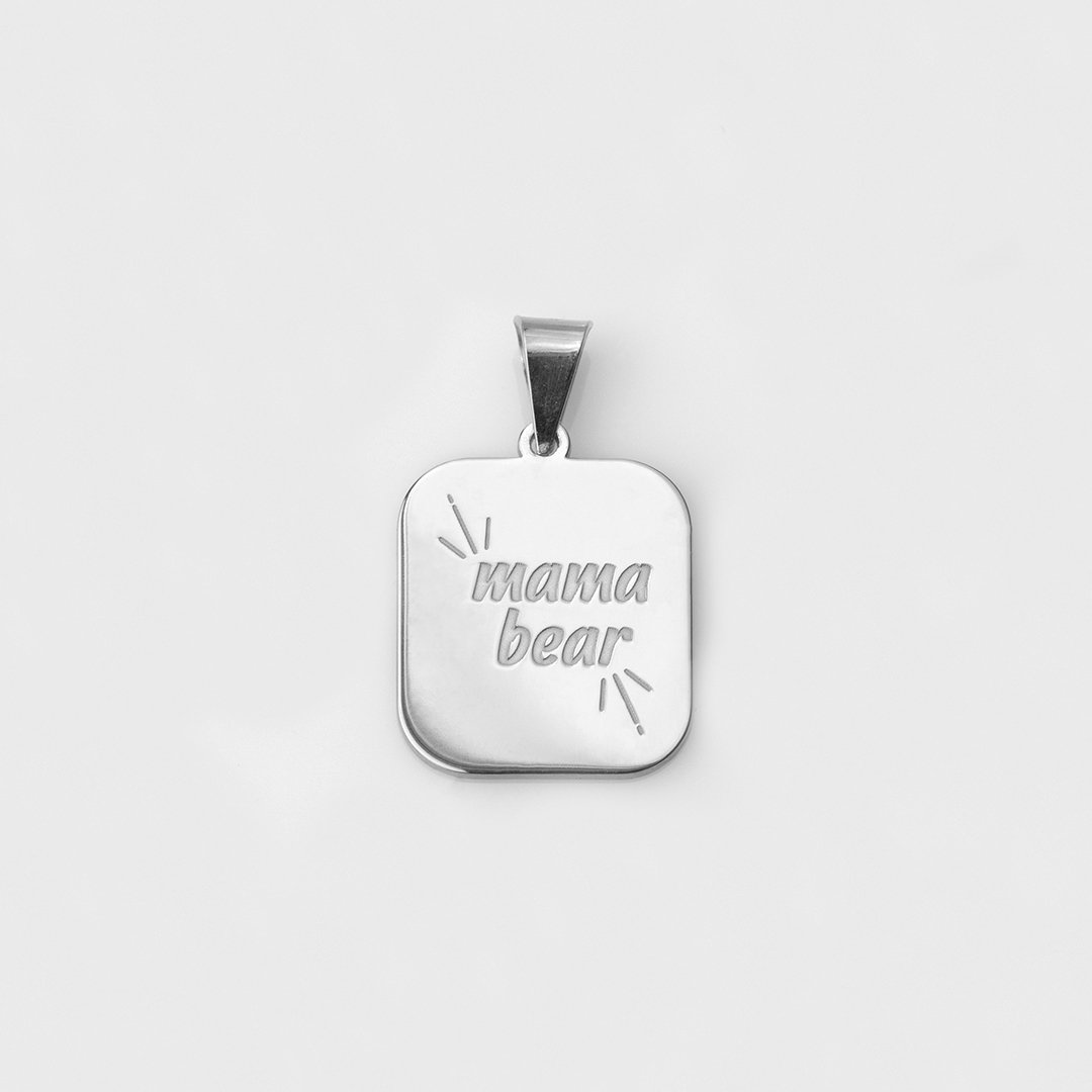 "Catchphrase ""mama bear"" pendant silver"