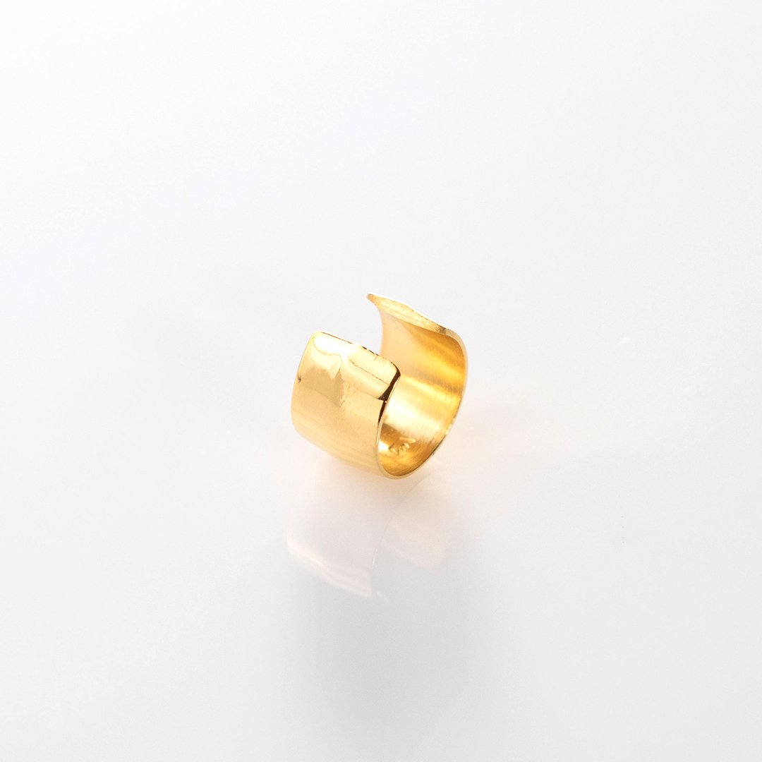 Cuff Mirror earring gold