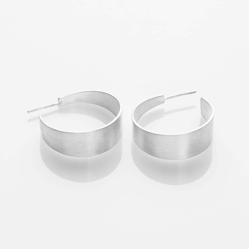 Half-Pipe earrings silver