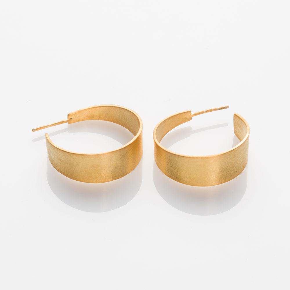 Half-Pipe earrings gold