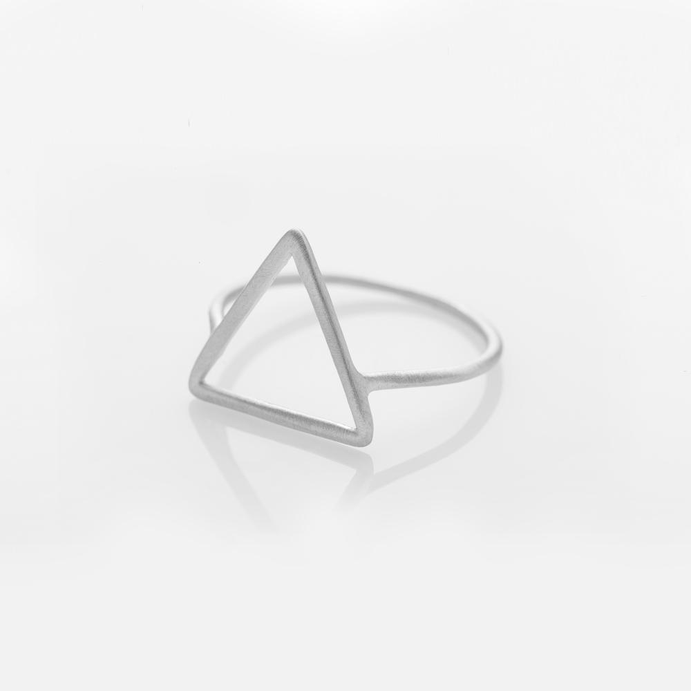 Wire Triangle Ring Silver
