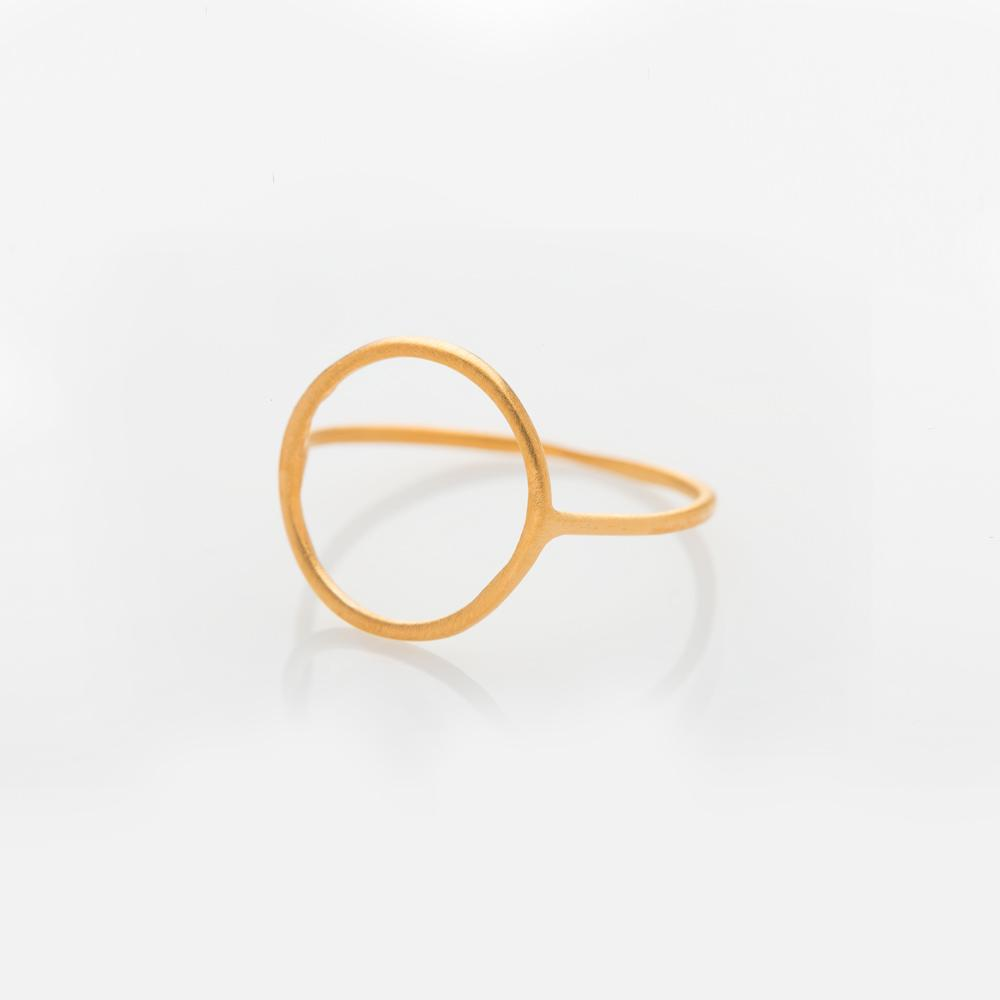 Wire circle ring gold