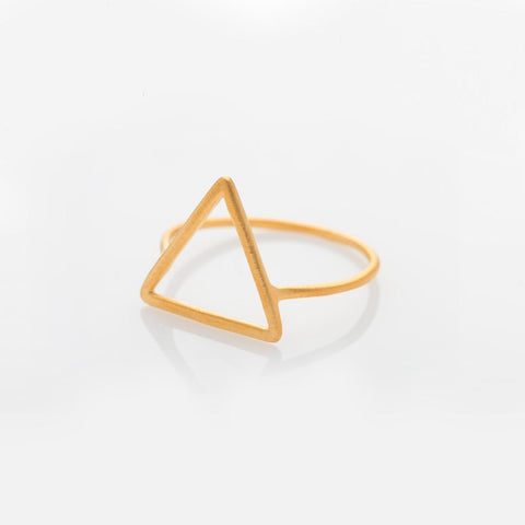 Wire triangle ring gold