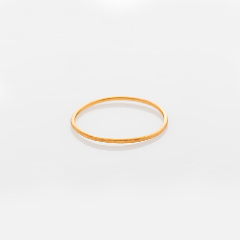Wire band ring gold